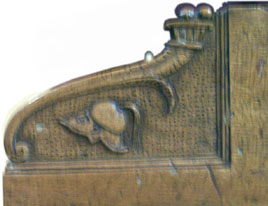 Carved Neapolitan keywell scroll, Castello Sforzesco, Milan, Catalogue number 579